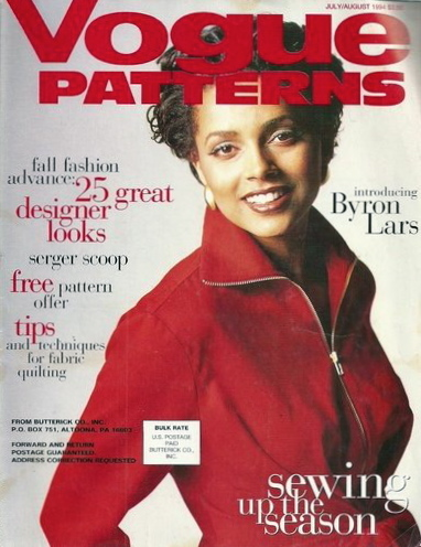 Introducing Byron Lars - Louise Vyent on the cover of Vogue Patterns magazine, summer 1994.
