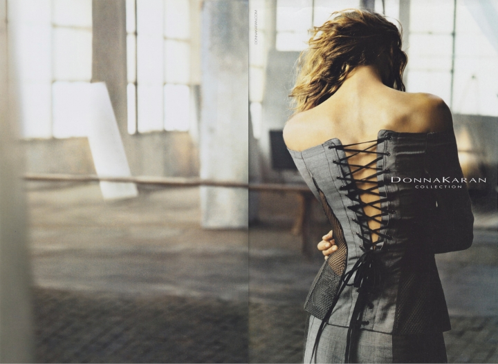 Erin Wasson photographed by Peter Lindbergh - Donna Karan Spring 2005 advertising campaign
