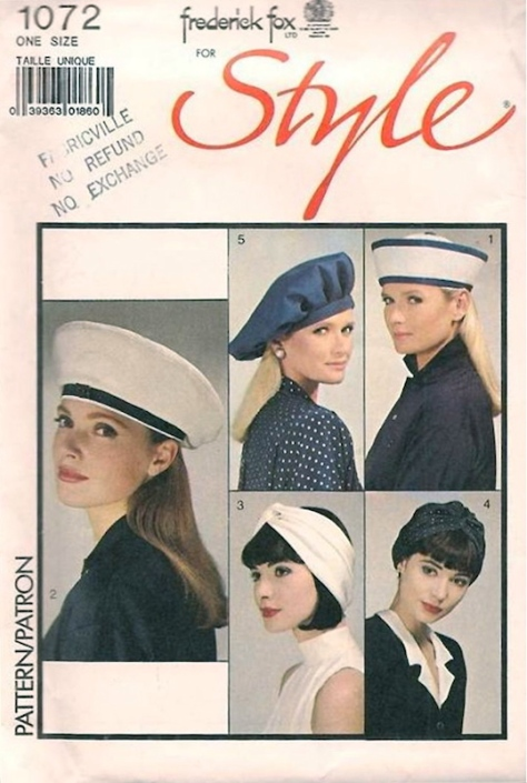 1980s Frederick Fox hat pattern - Style 1072