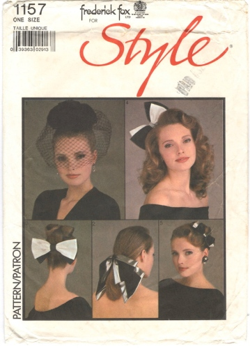 1980s Frederick Fox hair ornament pattern - Style 1157