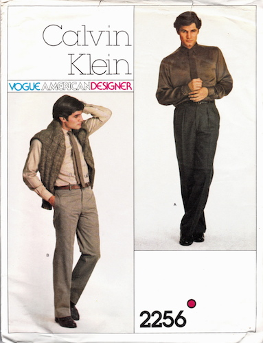 1970s Calvin Klein men's trousers pattern - Vogue 2256