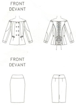 Technical drawing for Vogue 2893