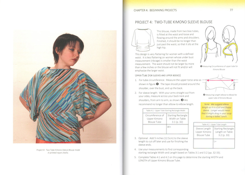 Two-Tube Kimono Sleeve Blouse - Bias Cut Blueprints