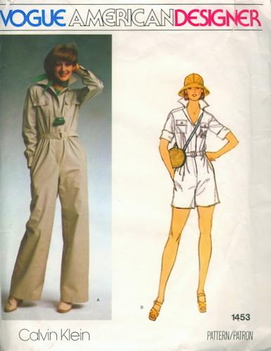 1970s Calvin Klein jumpsuit pattern - Vogue 1453