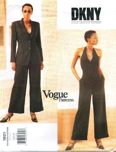 1990s DKNY jumpsuit pattern - Vogue 1821