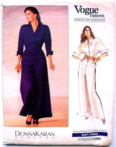 1980s Donna Karan jumpsuit pattern - Vogue 2284