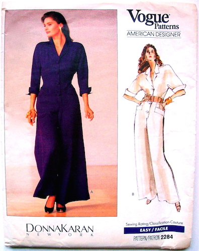 1980s Donna Karan jumpsuit pattern - Vogue 2284