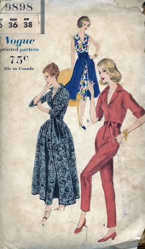 1950s jumpsuit and skirt pattern - Vogue 9898