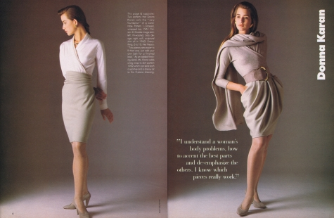 Donna Karan Vogue Patterns SeptOct 1987b