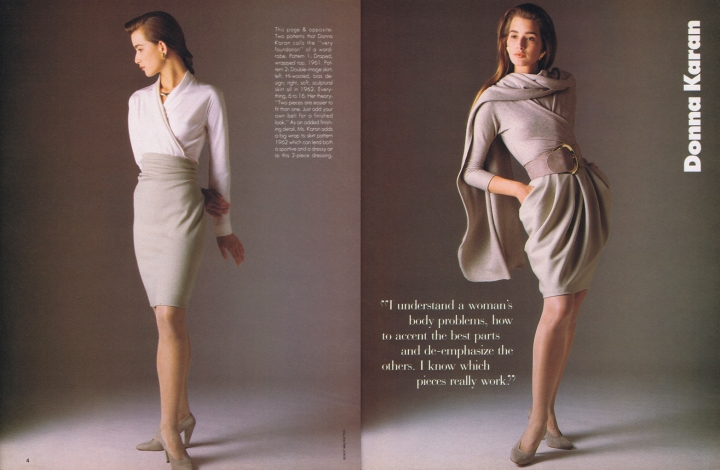 Donna Karan Vogue Patterns Sept/Oct 1987b