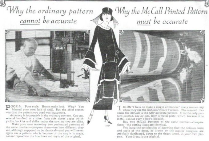 """Why the ordinary pattern CANNOT be accurate / Why the McCall Printed Pattern MUST be accurate"""