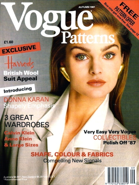 Vogue 1960 by Donna Karan on the cover of Vogue Patterns magazine, Autumn 1987