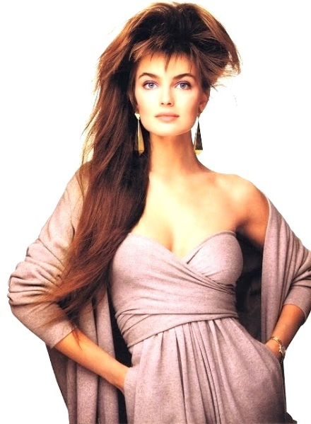 Paulina Porizkova photographed by Patrick Demarchelier in Donna Karan, British Vogue, September 1987
