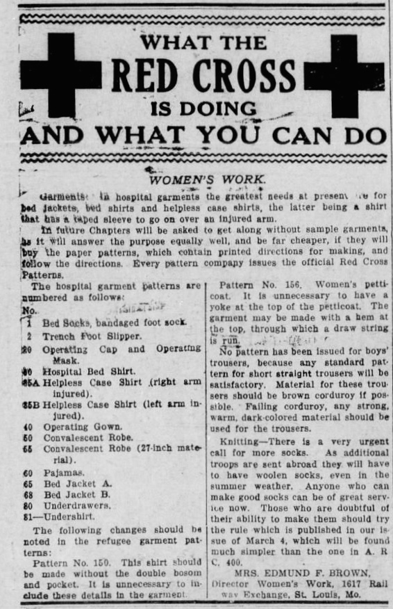 What the Red Cross Is Doing and What You Can Do - Drumright Evening Derrick, 17 Jun 1918