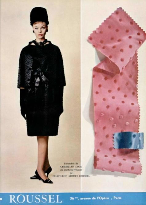 Ensemble de Christian Dior en duchesse velours de Chatillon Mouly Roussel