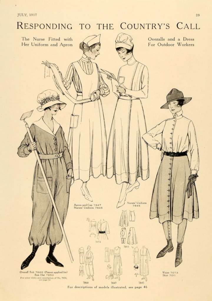 Responding to the Country's Call: patterns for war work in McCall's magazine, July 1917.
