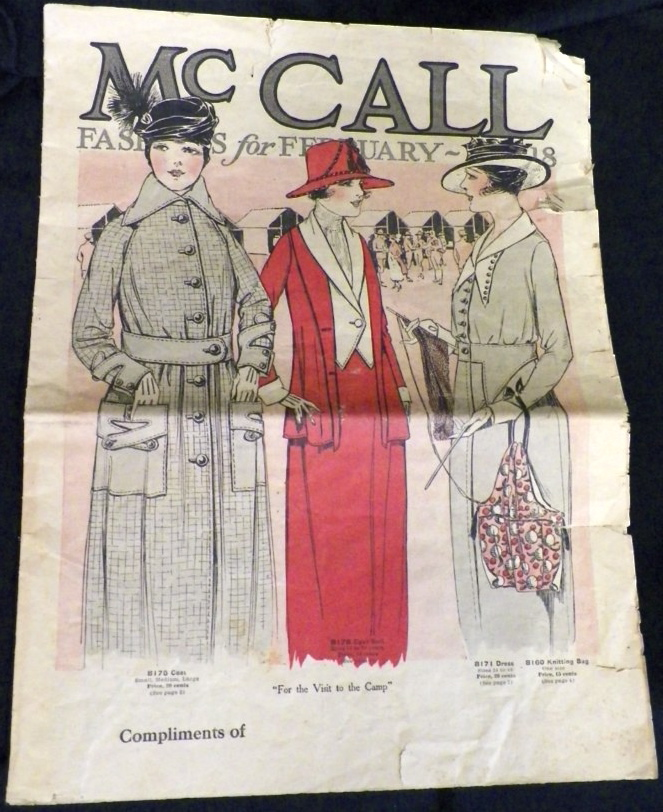 WW1 McCall Fashions (Style News) for February 1918