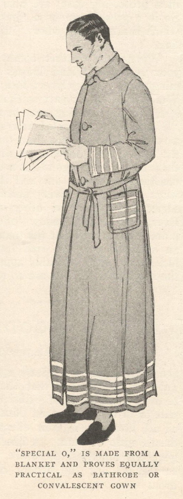 Red Cross bathrobe or convalescent gown illustrated: McCall Special O (1917)