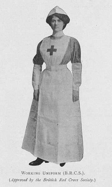 Practical instruction in cutting out and making up hospital garments for sick and wounded (approved by the Red Cross Society)