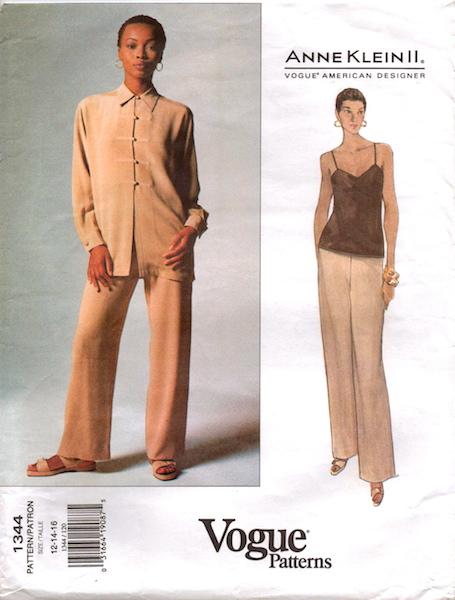 1990s Anne Klein II pattern - Vogue 1344