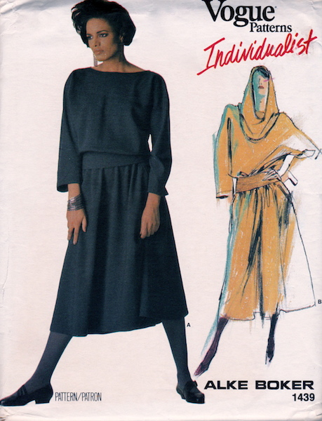 1980s Alke Boker dress pattern - Vogue Individualist 1439