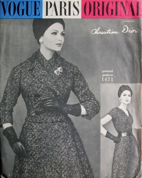 1950s Christian Dior dress and jacket pattern - Vogue 1471