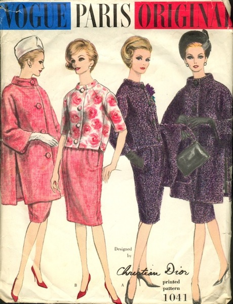 1960s Christian Dior suit and coat pattern - Vogue 1041