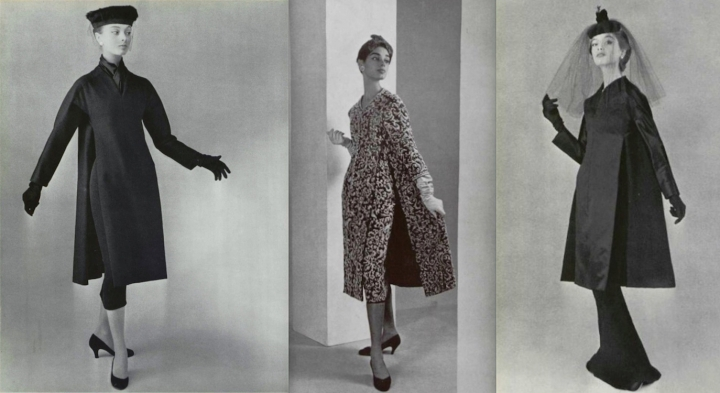 1950s Dior caftan-inspired designs in L'Officiel
