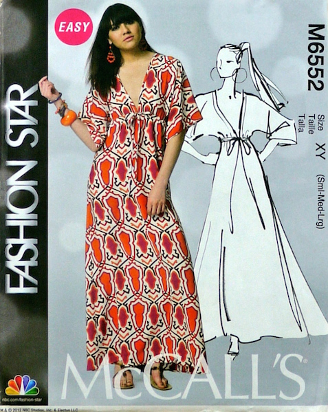 Nikki Poulos caftan pattern - McCall's 6552