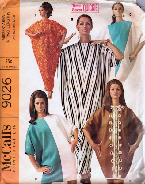 1960s abayat pattern - McCalls 9026
