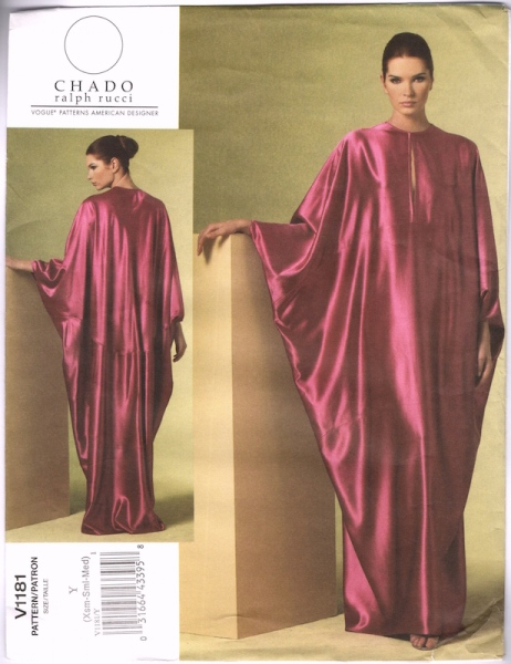 Chado Ralph Rucci caftan pattern - Vogue 1181