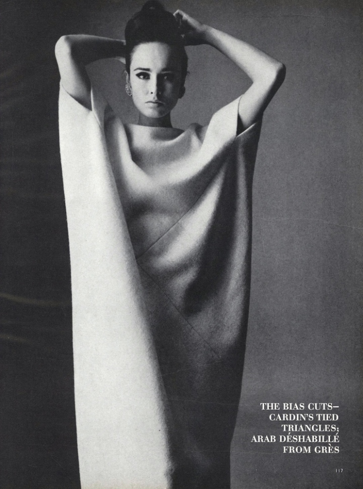 Grès caftan by Irving Penn for Vogue, Sept 1963