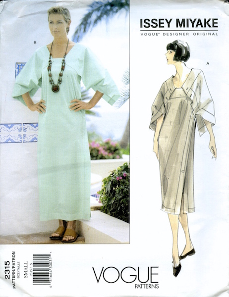 1990s Issey Miyake dress pattern - Vogue 2315