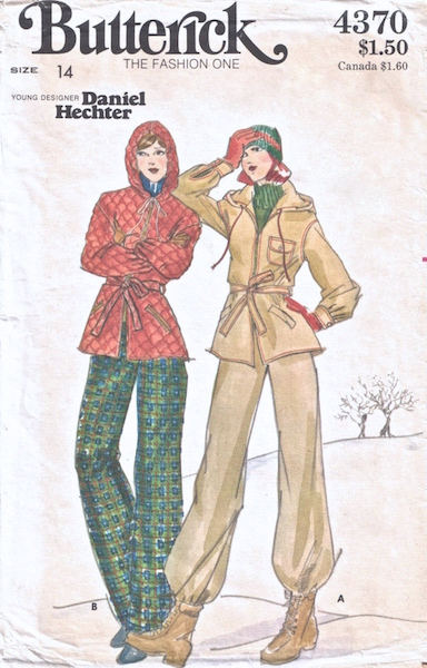 1970s ski suit pattern - Butterick Young Designer 4370