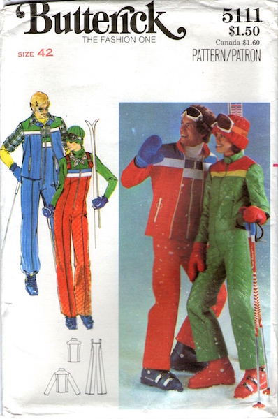 1970s men's skiwear pattern - Butterick 5111