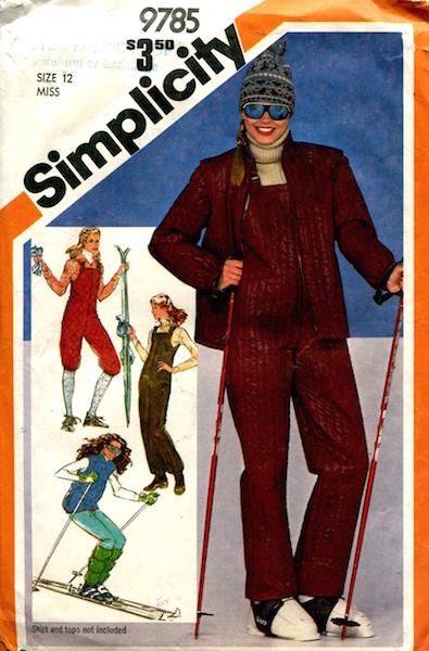 1980s skiwear pattern - Simplicity 9785