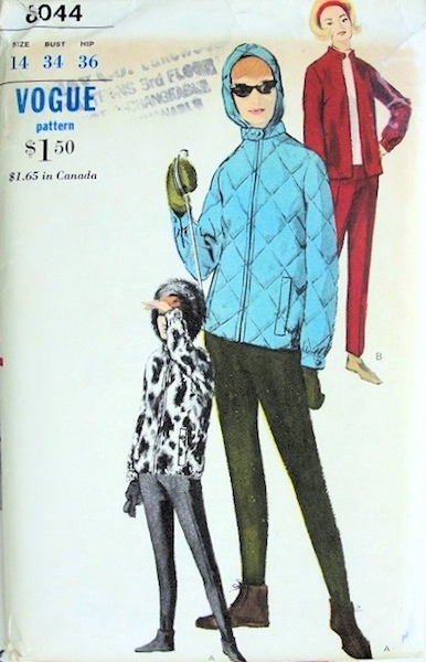 1960s ski suit pattern - Vogue 6044