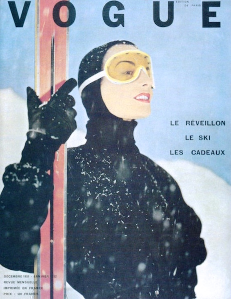 Couverture ski - Vogue Paris décembre 1951 janvier 1952