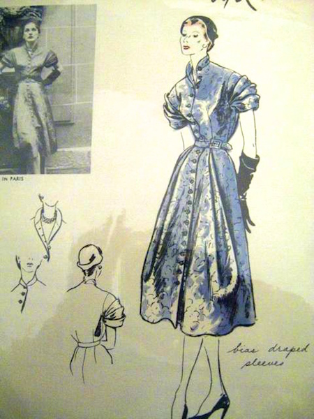 1950s Lanvin dress pattern - Vogue 1120