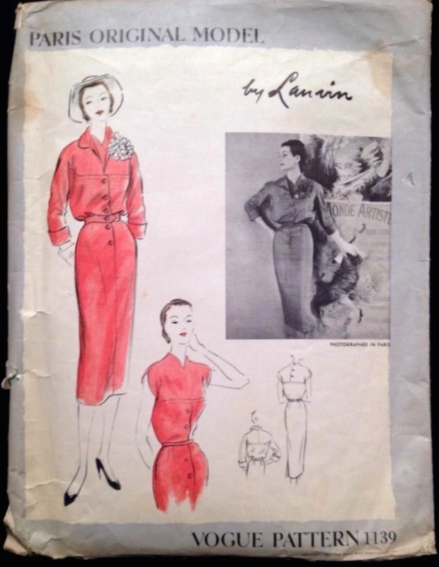 1950s Lanvin pattern - Vogue 1139