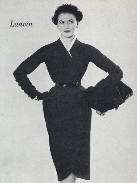 Lanvin dress pattern Vogue 1122 photographed for Vogue by Richard Rutledge, 1951