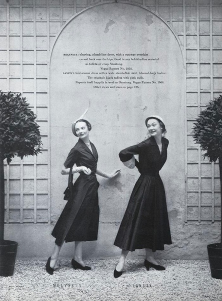 Molyneux and Lanvin patterns photographed by Cecil Beaton for Vogue, 1949