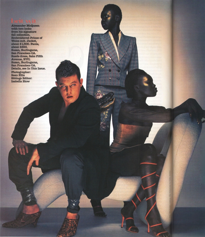 Brit Wit: Alexander McQueen in Vogue, October 1997