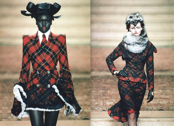 Two tartan looks from Eclect Dissect - Givenchy couture FW 1997