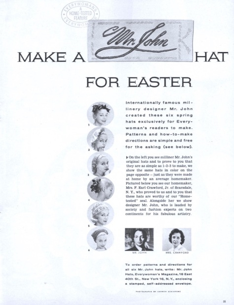 Make a Mr. John hat for Easter. Photos: Carmen Schiavone