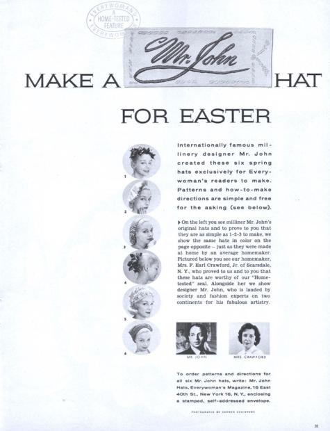 Make a Mr. John hat for Easter. Photos: Carmen Schiavone
