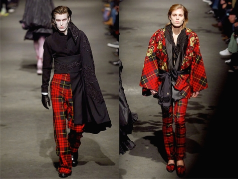 McQueen menswear FW2006 tartan