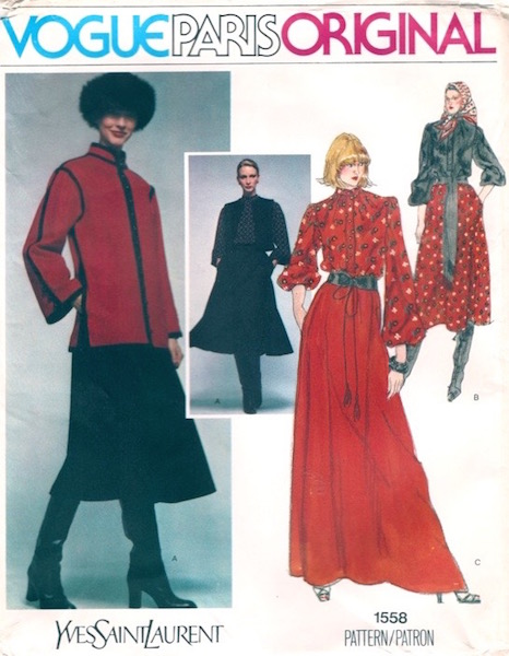 1970s Yves Saint Laurent Ballets Russes pattern - Vogue 1558