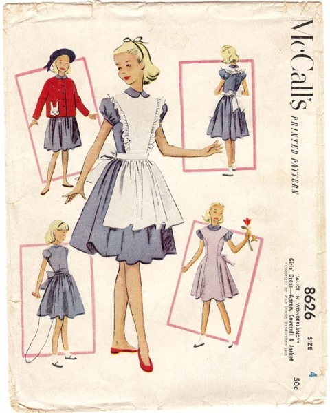 1950s Disney Alice sewing pattern - McCall's 8626