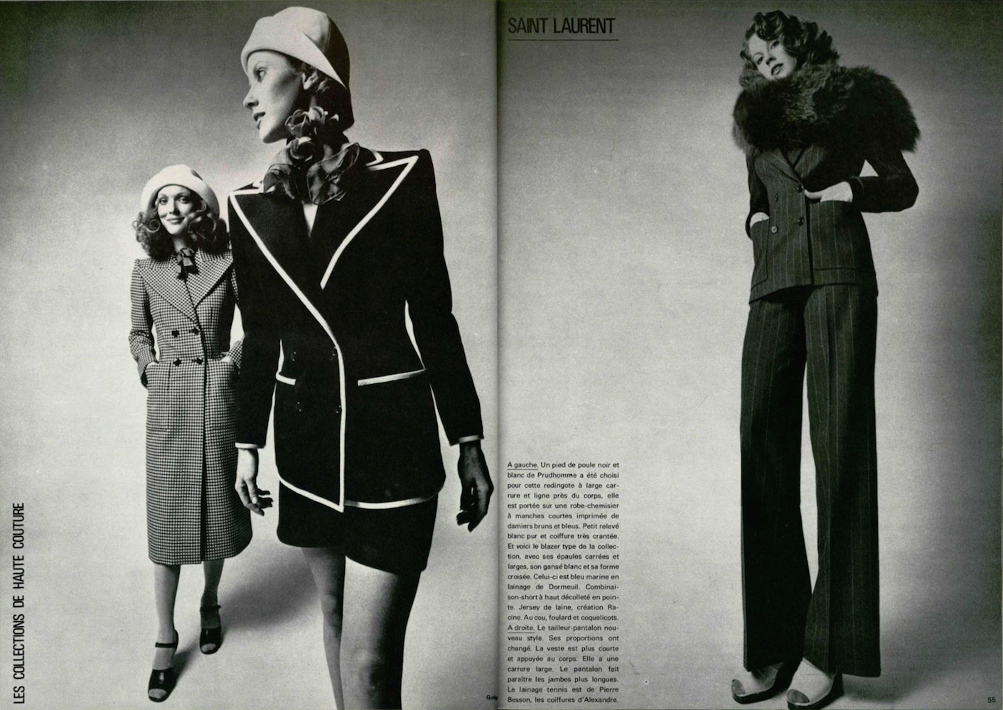 Yves saint laurent 1971 la collection du scandale for Miroir yves saint laurent